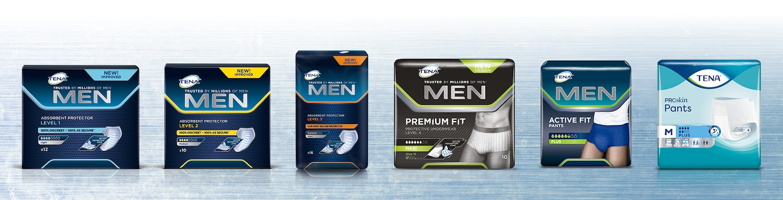 Výrobky TENA Men