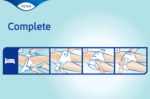 TENA Complete Ultra™ best way to use this adult diaper