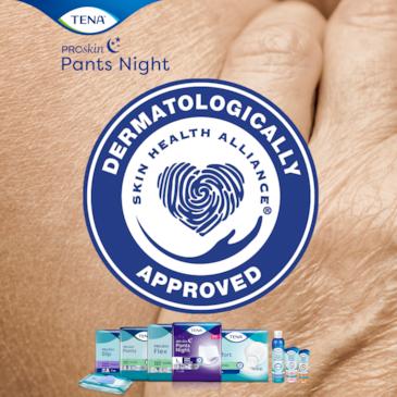 TENA Pants Night Super sind zertifiziert von Skin Health Alliance
