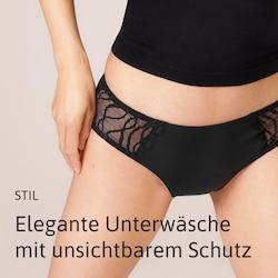 Elegante Unterwäsche mit unsichtbarem Schutz von TENA