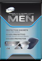 Escudos Protetores TENA Men para incontinência masculina, para pequenas fugas, gotas e pingos de urina