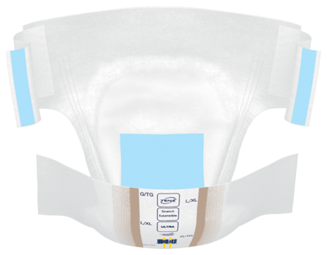 Change complet d'incontinence TENA ConfioAir Stretch ultra ouvert