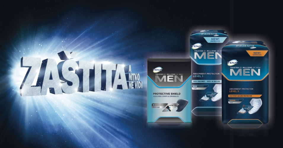 TENA Men Discreet Protection for urine leakage