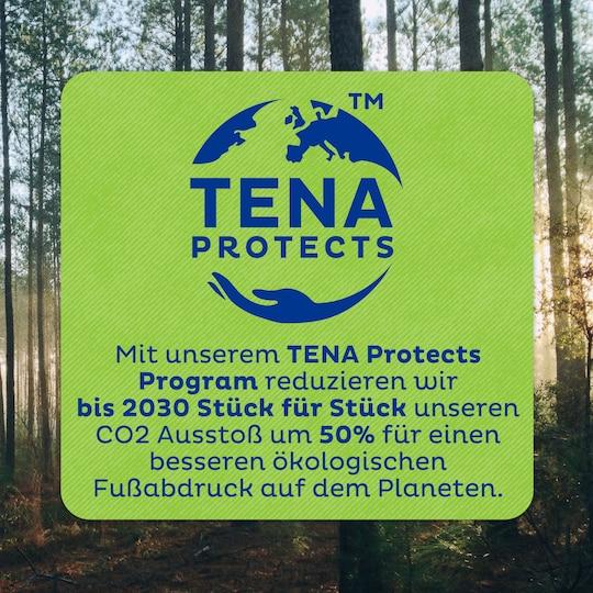 Mit unserem TENA Protects Programm reduzieren wir bis 2030 Schritt für Schritt unseren CO2-Ausstoß in Europa um 50 % –  für einen besseren ökologischen Fußabdruck.