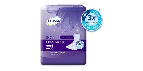 Specialiai nakčiai sukurti TENA Lady Maxi Night paketai