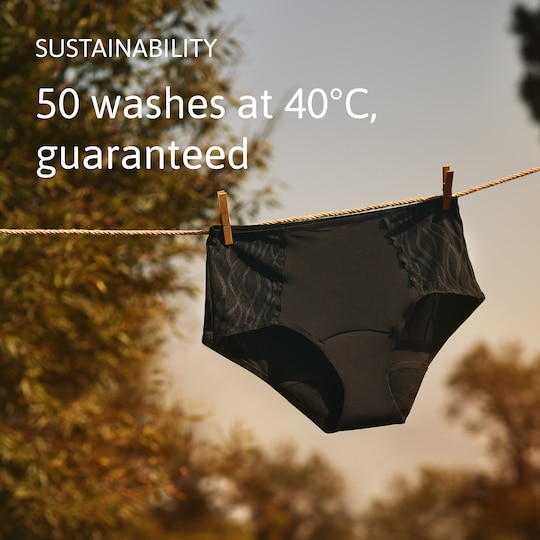 Machine washable & reusable pee-proof incontinence underwear