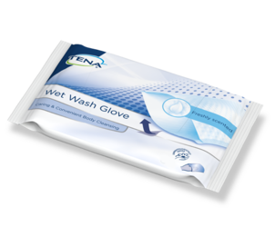 TENA Wet Wash Glove Freshly Scented packshot