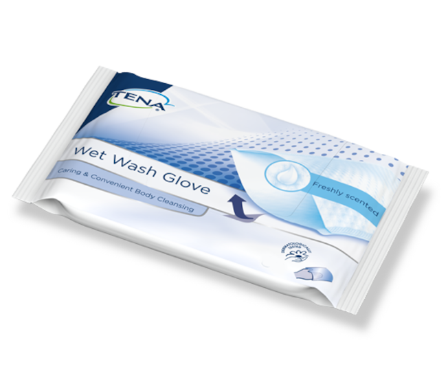 TENA Wet Wash Glove Freshly Scented packshot
