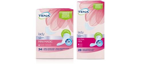 Vložky TENA Lady Slim – snímek dvou balení výrobků