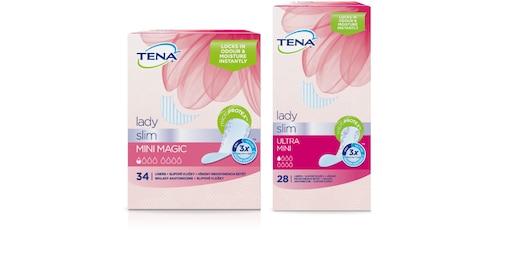 Záber balenia dvou produktov TENA Lady Slim