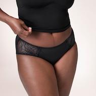 Culotte absorbante lavable féminine pour l'incontinence légère de style taille basse