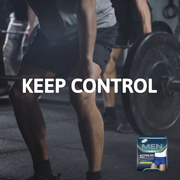 Volle Kontrolle mit den TENA Men Inkontinenzprodukten für Männer mit bestem Schutz und hervorragender Passform