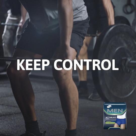 Behåll kontrollen med hjälp av inkontinensprodukterna TENA Men – för bästa passform och skydd