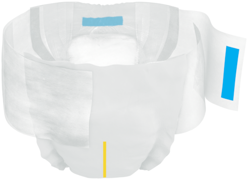 TENA Complete +Care Ultra™ Briefs is an open all-in-one incontinence product with adjustable tabs