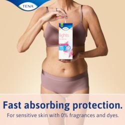 Hurtigtabsorberende beskyttelse til let inkontinens