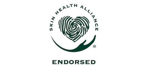 The Skin Health Alliance icon, showing an outstretched hand cradling a heart made of a fingerprint.