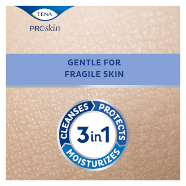 TENA ProSkin Cleansing skin care product, best care for fragile skin