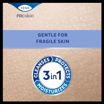 TENA ProSkin rengjørende hudpleieprodukt, den beste pleien for skjør hud