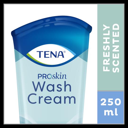 Produit de soins pour la peau TENA Wash Cream ProSkin – Lave sans besoin de rincer à l'eau