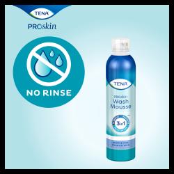 TENA ProSkin Wash Mousse huidverzorgingsproduct - wassen zonder af te hoeven spoelen met water