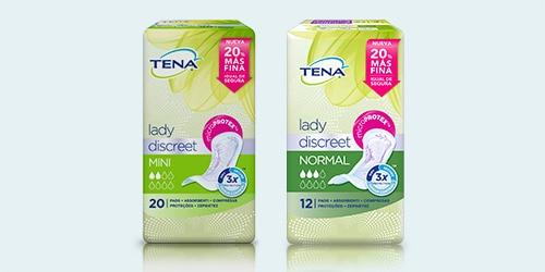 Tres paquetes de TENA Lady Discreet