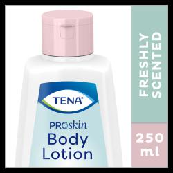 250 ml van TENA ProSkin Body Lotion een fris geurende, verzorgende bodylotion