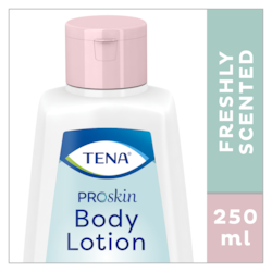 250 ml van TENA ProSkin Body Lotion een fris geurende, verzorgende bodylotion