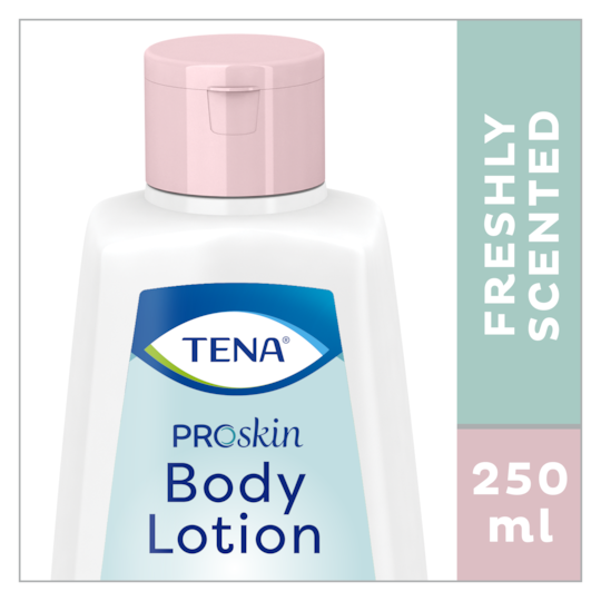 250 ml TENA ProSkin Body Lotion, en friskduftende og plejende bodylotion
