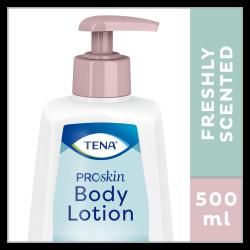 TENA ProSkin Body Lotion is en fris geurende bodylotion in een handige pompflacon van 500 ml