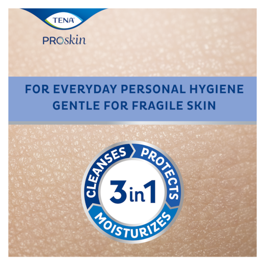 For everyday personal hygiene, TENA ProSkin Wet Wipes gentle for fragile skin