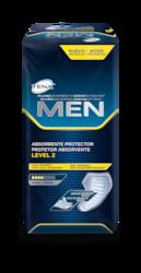 TENA Men protector absorbente level 2: protección masculina para las pérdidas de orina y la incontinencia moderadas