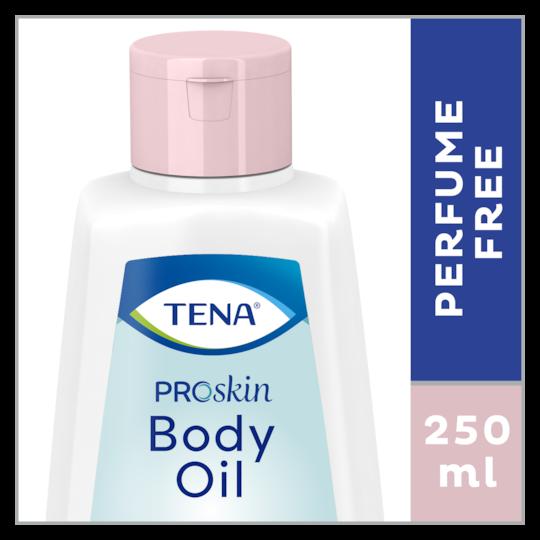 TENA ProSkin Body Oil Ihoöljy – 250ml hoitavaa ja hajusteetonta ihoöljyä