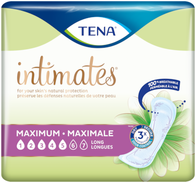 TENA Intimates Maximum | Long incontinence pad for women