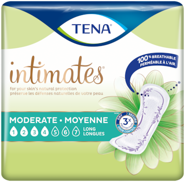TENA Intimates Moderate | Long incontinence pad for women