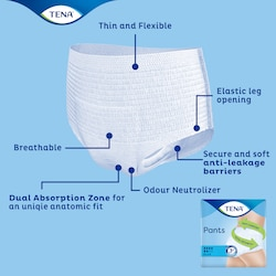 TENA Pants Plus with advanced technology for comfort, dryness & leakage security