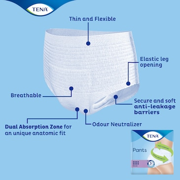 TENA Pants Maxi with advanced technology for comfort, dryness & leakage security