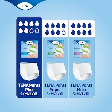 Find the best product for you in the TENA incontinence pants range