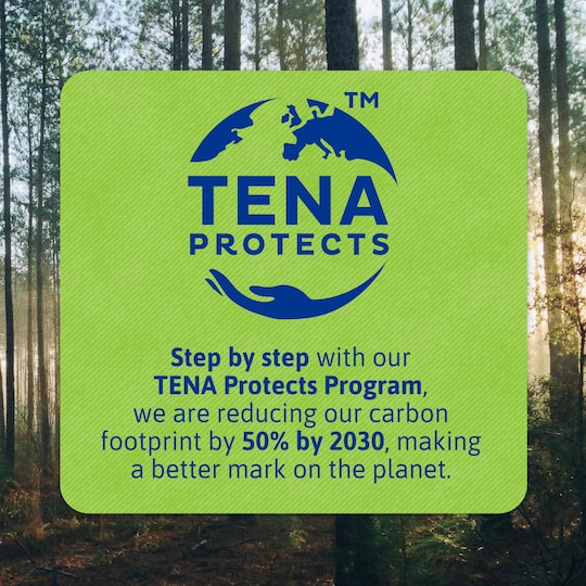 TENA Protects Program – reducing our carbon footprint by 50% by 2030, making a better mark on the planet.