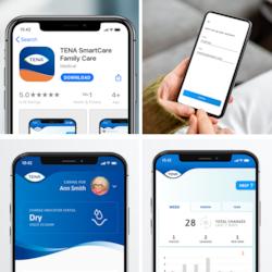 Sådan ser TENA SmartCare Family Care App ud