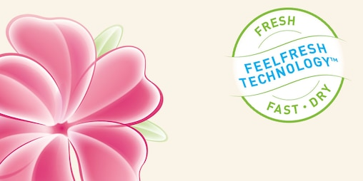 logo della tecnologia FeelFreshTM di lights by TENA.