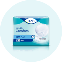A package of TENA ProSkin Comfort incontinence pads