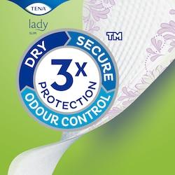 Прокладки TENA Lady Slim с тройной защитой от протеканий, влаги и запаха