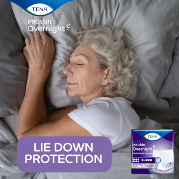 TENA Overnight incontinence underwear for a worry free night's sleep