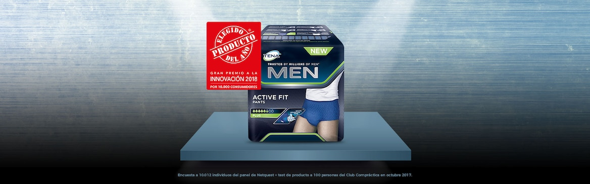 TENA Men Active Fit Pants Plus, Producto del Año 2018