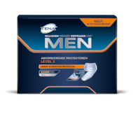 TENA MEN Protektoren Level 3 – Extraschutz vor grösserem unfreiwilligen Harnverlust und Inkontinenz bei Männern, geeignet für Tag und Nacht