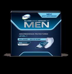 TENA MEN Protektoren Level 1 – Sichere, absorbierende Einlagen für Männer bei leichtem Tröpfchenverlust und Blasenschwäche