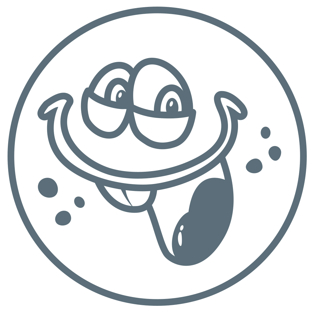 Sticker of smiling cartoon monsters.