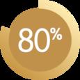 يظهر الرسم 80٪