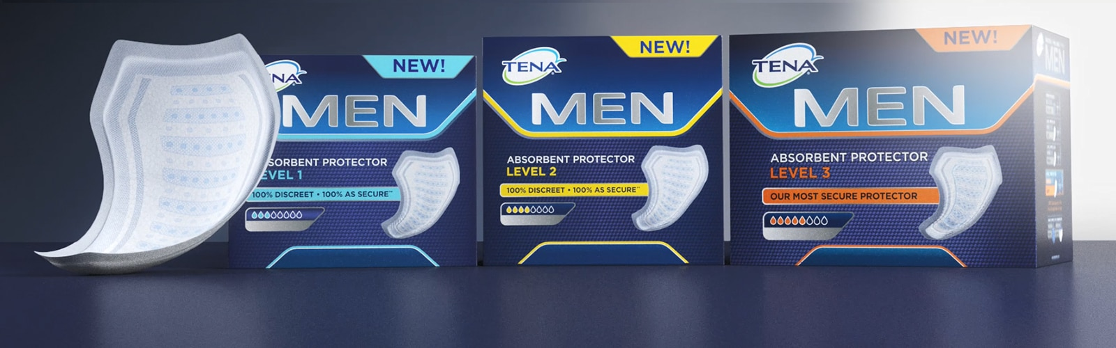 TENA Men Absorbent Protector product video  - trusted pads for men with urine leakage