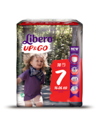 A package of Libero UP & GO size 7